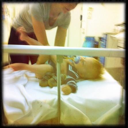 Und wieder im Krankenhaus…